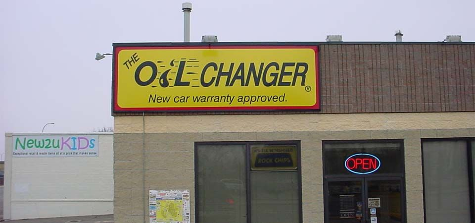 Oil Changer sign